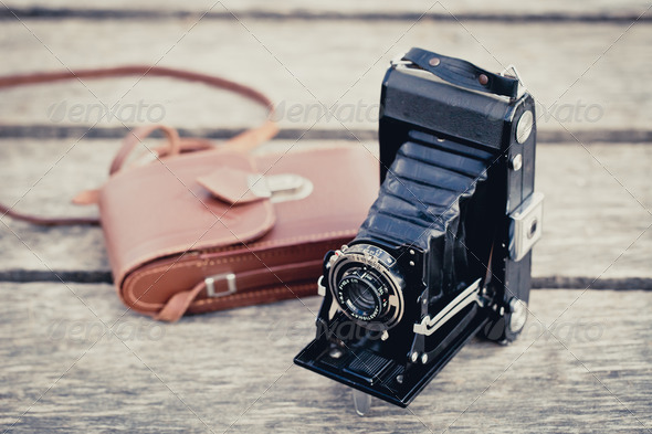 Folding Camera - Stock Photo - Images