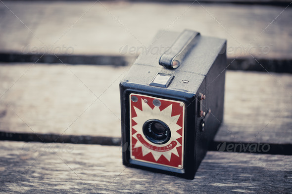 Old Box Camera - Stock Photo - Images