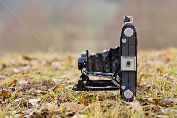 Folding Camera - Stock Photo - Images