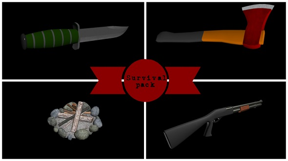 Low-poly Survival pack - 3DOcean Item for Sale