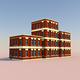Low Poly Buildings 001 - 3DOcean Item for Sale