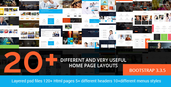 Brezz – Responsive Multi-Purpose HTML5 Template