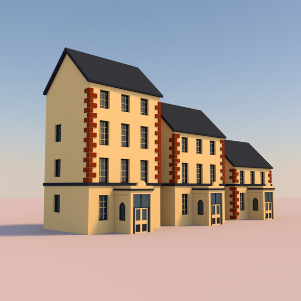 Low Poly Buildings 002 - 3DOcean Item for Sale