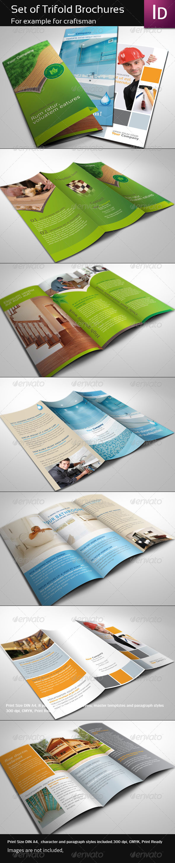 Set of Trifold Brochure - Corporate Brochures