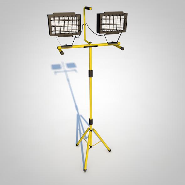 Halogen Lamp - 3DOcean Item for Sale