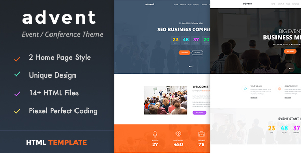 Advent – Conference & Event HTML Template