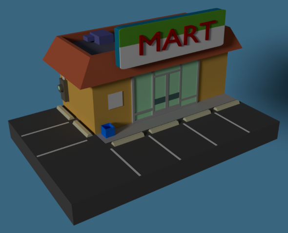 Low Poly Grocery Store - 3DOcean Item for Sale