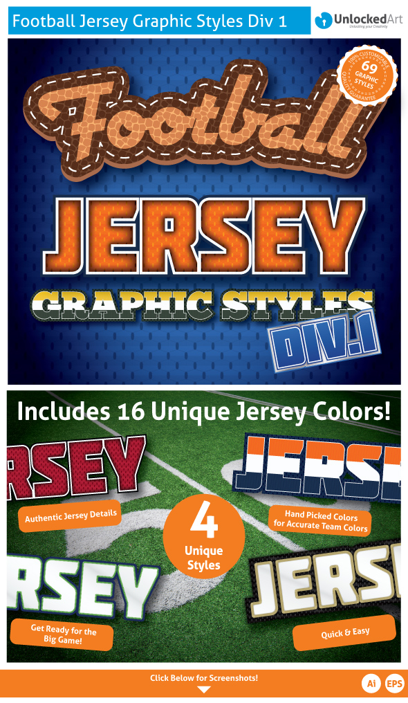 Football Jersey Div 1 Graphic Styles - Styles Illustrator