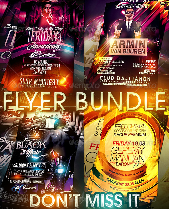 Friday Throwdown Flyer Bundle - Clubs & Parties Events