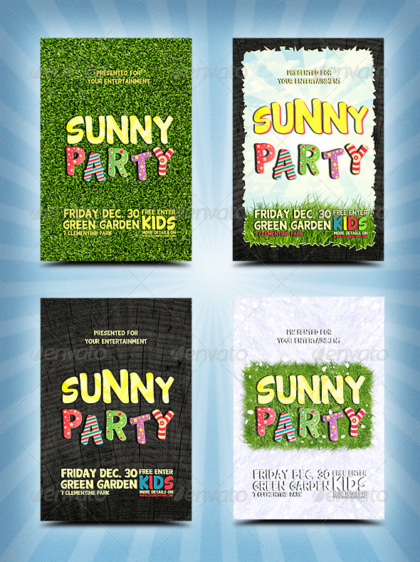 Party Flyers 4 in 1 - Clubs & Parties Events