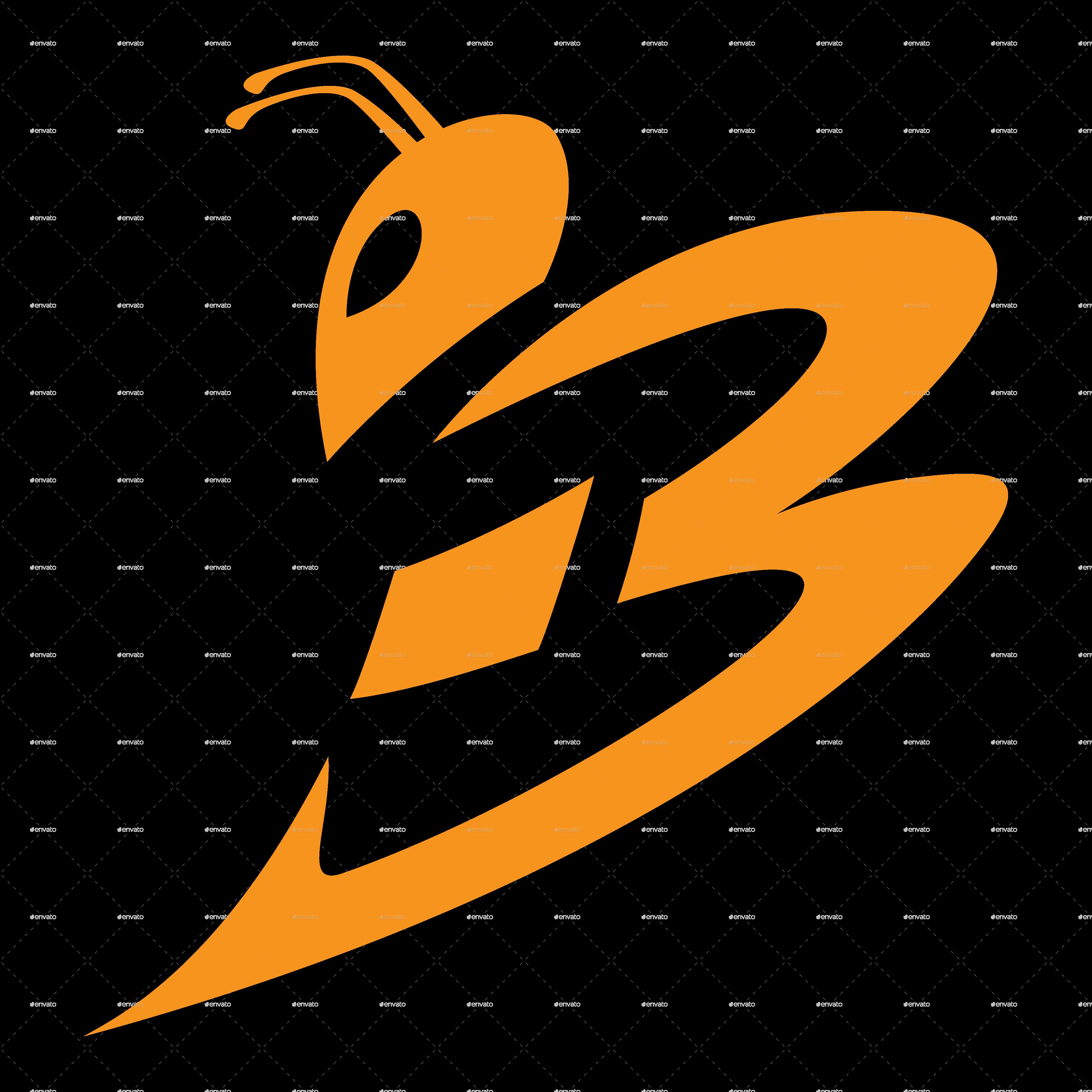 Bee logo template by superkij graphicriver for Envato graphicriver