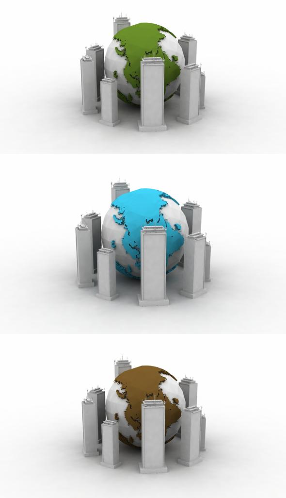 World City Plan - 3DOcean Item for Sale