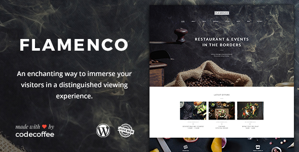 Flamenco – A Magnificent Restaurant and Bar WordPress Theme