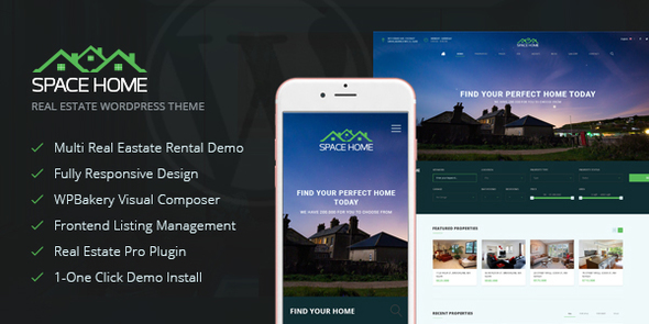 Space Home – Real Estate WordPress Theme