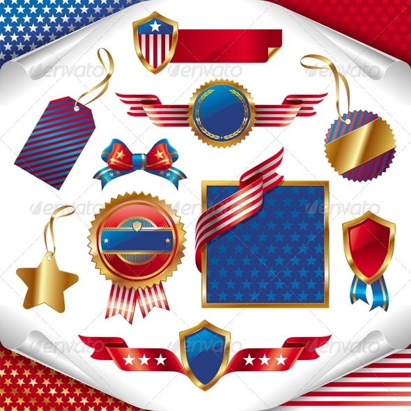 USA Patriotic Signs, Labels, Tags & Emblem - Miscellaneous Seasons/Holidays