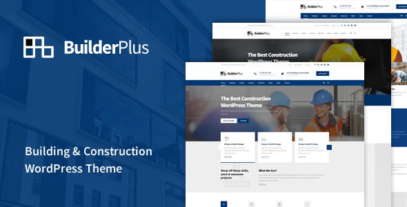 BuilderPlus – Building & Construction WordPress Theme