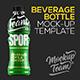 Power Beverage Bottle Mockup Template - GraphicRiver Item for Sale