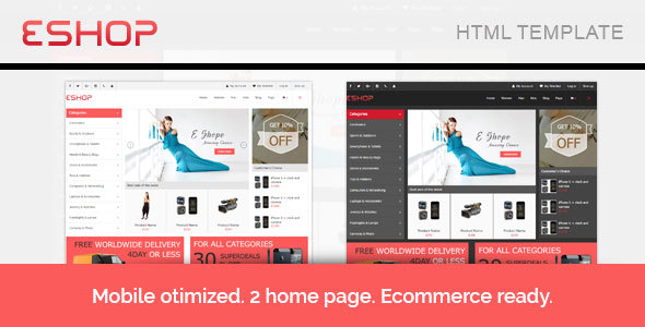 E-Shop Responisve E-commerce HTML Template