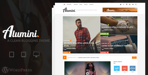Alumini - WordPress Blogging / Magazine Theme