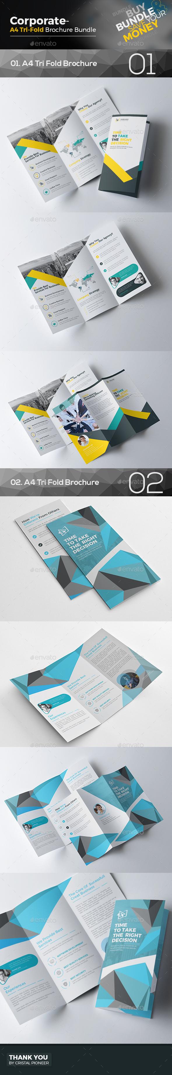 Tri Fold Brochure Bundle 2 In 1 By Cristalp Graphicriver