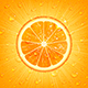 Orange Background with Water Drops - GraphicRiver Item for Sale