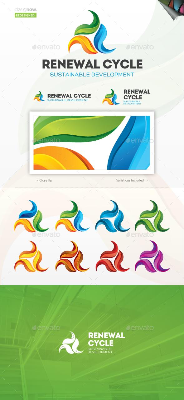 Renewal Cycle Logo - Nature Logo Templates