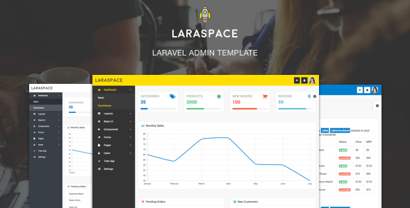 Laraspace - Laravel  & VueJS Admin Template - CodeCanyon Item for Sale