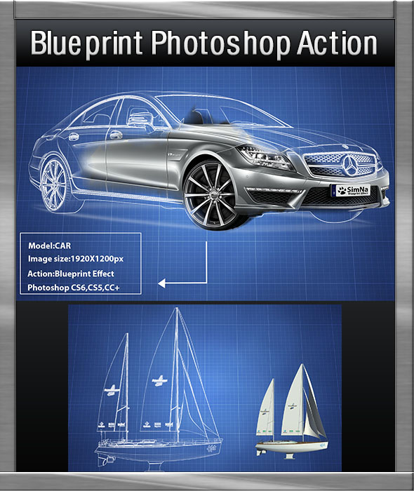 Blueprint photoshop action by simna graphicriver blueprint photoshop action actions photoshop malvernweather Gallery
