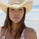 Gorgeous Young Sunbather Wears Straw Hat - VideoHive Item for Sale
