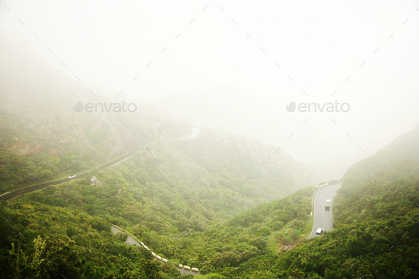 Landscape with hills - Stock Photo - Images