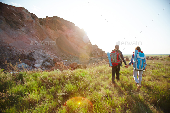 Traveling on sunny day - Stock Photo - Images