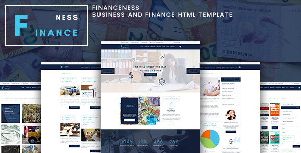 Financeness – Business and Finance HTML Template