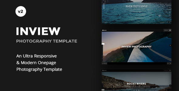 Inview - Full Screen Photography WordPress Theme