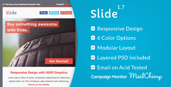Slide - Responsive Email Template - Email Templates Marketing