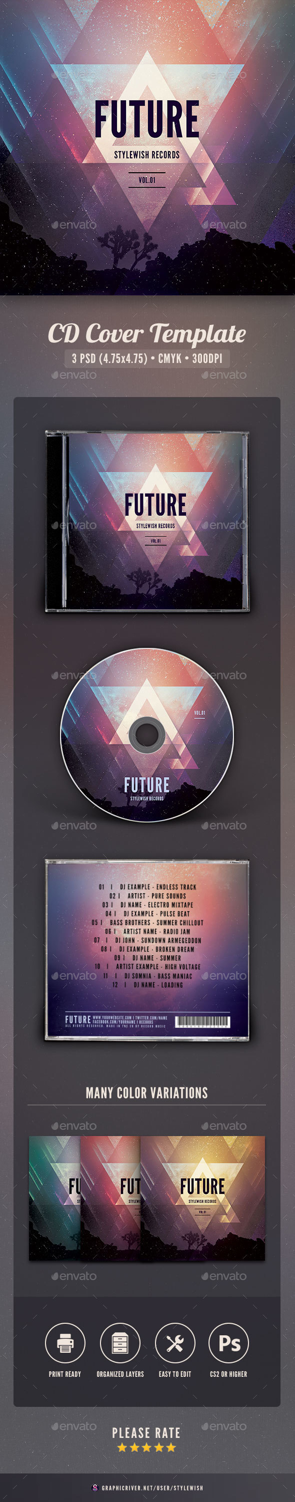 Cd Cover Template Photoshop Image collections - Template Design Ideas