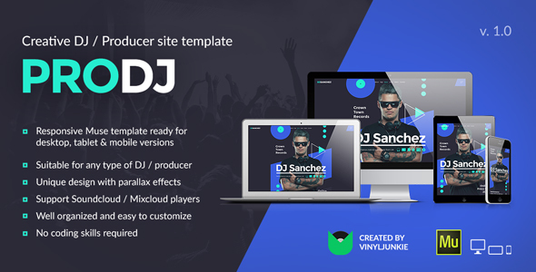 ProDJ – Creative DJ/ Producer Site Muse Template
