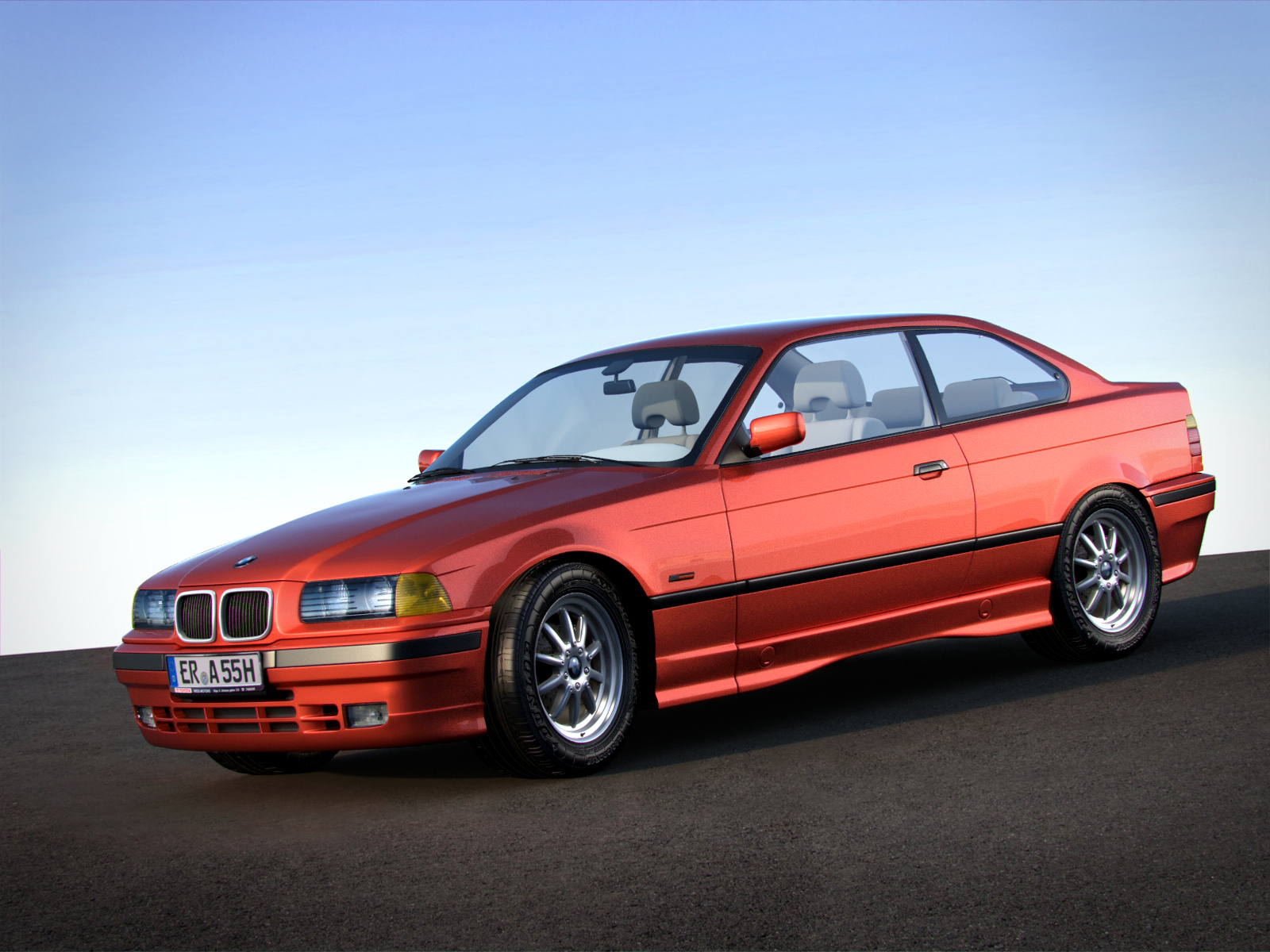 bmw 3 series e36 coupe by rtework 3docean. Black Bedroom Furniture Sets. Home Design Ideas