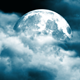 Clouds Surrounding The Moon Background - VideoHive Item for Sale