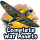 2D Complete War Assets Kit 1 of 2 - Airplanes, Tanks & more - GraphicRiver Item for Sale