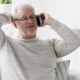 Happy Senior Man Calling On Smartphone At Home 99 - VideoHive Item for Sale