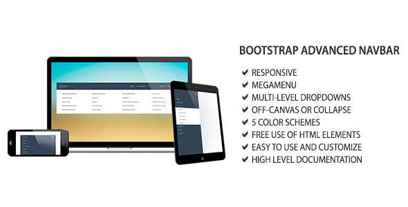 Bootstrap Advanced Navbar - CodeCanyon Item for Sale