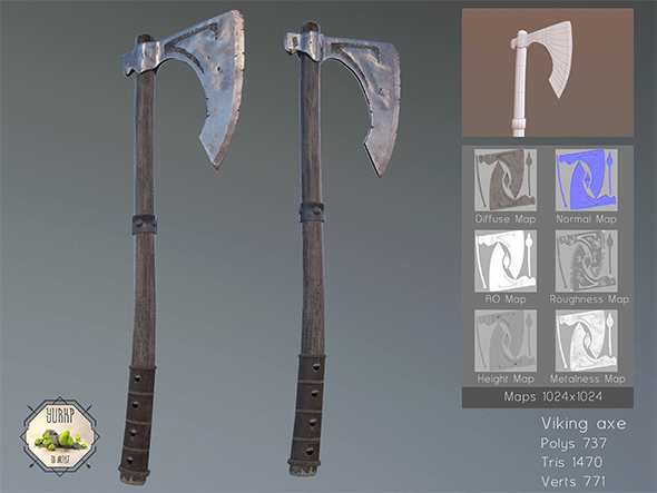 Viking Axe - 3DOcean Item for Sale