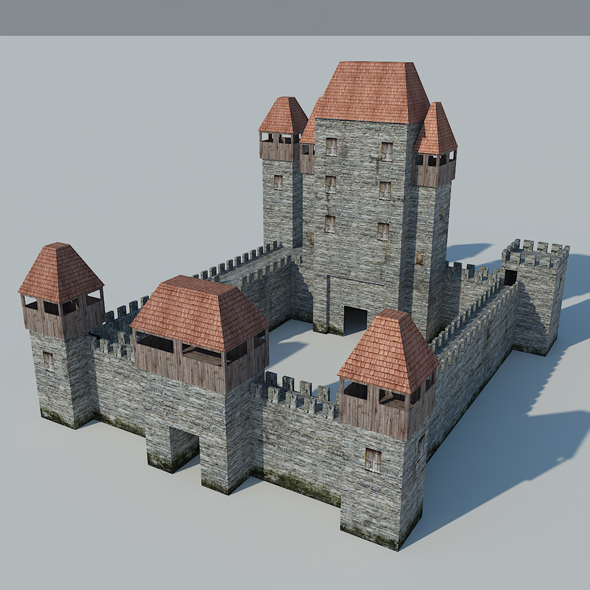 Low Poly Castle - 3DOcean Item for Sale