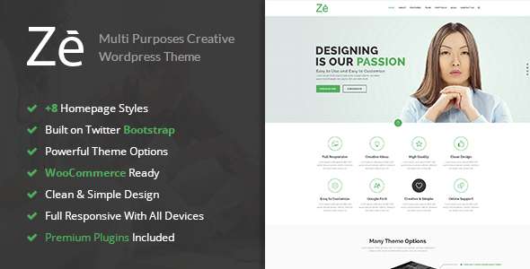 Ze - Responsive Creative & Multi-Purpose WordPress Theme - Creative WordPress