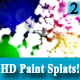 HD Colourful Paint Splat 2 on White Background - VideoHive Item for Sale
