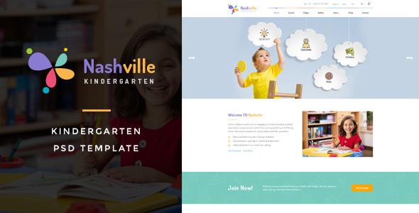 Download Nashville : Kindergarten PSD Template nulled version