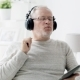 Old Man  In Headphones With Tablet Pc At Home 90 - VideoHive Item for Sale