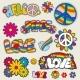 Retro Hippie Patches Vector Emblems - GraphicRiver Item for Sale
