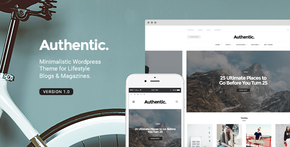 Authentic – Lifestyle Blog & Magazine WordPress Theme