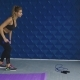 Portrait Of a Sporty Woman Doing Lunges With Dumbbells, Working Out Legs Muscles - VideoHive Item for Sale